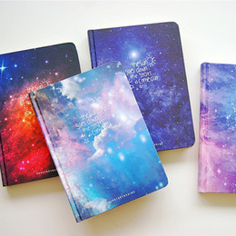 """Wholesale Notebook Year - """"Stars Come"""" Journal Diary Lined Papers Hard Cover Any Year Planner Study Notebook Travel Notepad"""