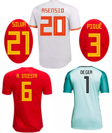 red spain uniform Coupons - 2018 Spain Home Away Soccer Jerseys 18 19 MORATA ISCO ASENSIO Ramos National Team Football Shirt World Cup 2018 Espana Football Uniforms