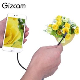 Wholesale Wireless Snake - Gizcam 8mm Lens Wifi Wireless Endoscope Camera 2M Waterproof Snake Tube Pipe Borescope HD1080P for Iphone Mini Camera