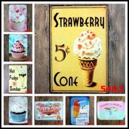 """Wholesale food paint - 40Styles Fast Food 11.81""""x7.87"""" Retro Metal Signs Tin Painting Home Decor Posters Crafts Supplies Wall Art Pictures Wall Decor"""