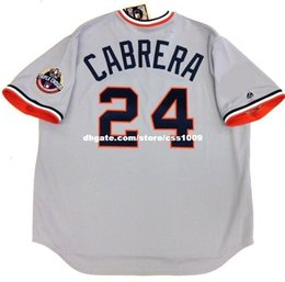 Wholesale Triple Crown - Cheap custom MIGUEL CABRERA DETROIT TRIPLE CROWN COOPERSTOWN JERSEY Stitched Customize any number name youth Jerseys