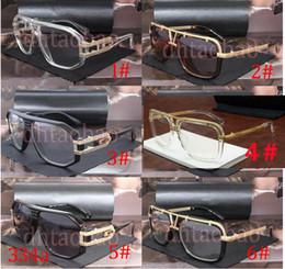 Солнцезащитные очки онлайн-Moq = 5 шт Унисекс ВС очки Модные солнцезащитные очки в стиле ретро Goggle очки Tide металла кадров за размер объектива кадров износа глаз 6 цветов Доставка
