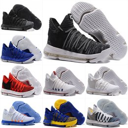Wholesale Cheap Men Kd Shoes - Cheap KD 10 men Basketball Shoes MVP Oreo City Edition multi color White Chrome UniversIty Red Numbers Igloo Kevin Durant shoe Sport Sneaker