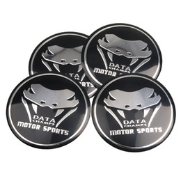 Wholesale Ford Mustang Badges - 4x Snake Motor sports Car Steering tire Wheel Center car sticker Hub Cap Emblem Badge Decals For M Sports BMW Ford Mustang Audi
