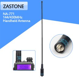 Wholesale Dual Band Antenna Sma Female - Zastone NA-771 DUAL BAND Antenna NA771 SMA-Female 144 430MHz for HandHeld baofeng Radio UV-5R 888S TG-UV2 walkie talkie