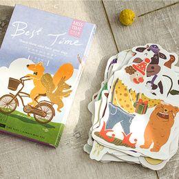 Wholesale Bear Christmas Cards - 30 pcs lot Novelty heteromorphism Cartoon animal bear postcard greeting card christmas card birthday gift cards