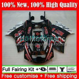 Kits de carenado rizla online-Cuerpo para SUZUKI RGV250 VJ23 97-98 RGV 250 97 98 Carrocería RIZLA rojo 39MT10 RGV-250 VJ 23 Carenado RGV250 1997 1998 blk Kit de carrocería Fairing