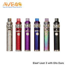 2019 оригинальные батареи eleaf Eleaf iJust 3 Kit с распылителем Ello Duro емкостью 6,5 мл и батареей iJust 3 80 Вт Макс. Выход, 100% оригинал дешево оригинальные батареи eleaf