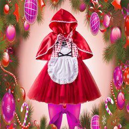 2019 cosplay kostüme rote reithaube Mode Cosplay Kinder Weihnachten Kostüme Fee Rotkäppchen Kostüm Prinzessin Kleid Weihnachten Leistung Kostüm Make-up Bühne günstig cosplay kostüme rote reithaube