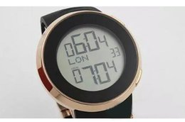 Wholesale Digital Watches For Sale - 2018 New Hot Sale Brand Guc Digital watch For Men Grammy Chronograph Gold Sheleton Black Dial Rubber Band Watch