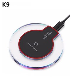 Wholesale Docking Station Wireless - Qi Wireless Charger K9 For Samsung S8 S7 S6 edge Note 5 8 iPhone X 8 Plus Portable Wireless Charging Phone Dock Station