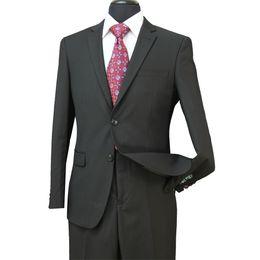 Wholesale Two Piece Bridegroom Suit - 2018 Formal Wedding Men Tuxedos UTRA Slim Fit Bridegroom Tuxedos For Men Two Piece Groomsmen Suit Cheap Business Jackets + Pants ST002