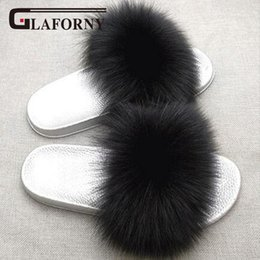 Girl's Accessories Glaforny 2018 Kids Real Fox Fur Girls Slipper Spring Summer Natural Fur Slides Children Indoor Outdoor Fashion Shoes Luxury Fox 2019 New Fashion Style Online Apparel Accessories