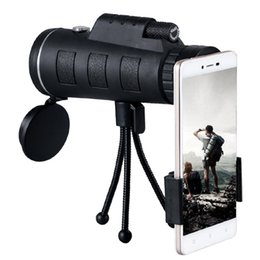 Wholesale Mobile Vision Camera - 40X60 Monocular Telescope Night Vision Zoom Scope for Mobile Phone Camera Camping Hiking Fishing with Compass Phone Clip Tripod