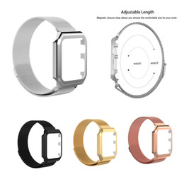 Wholesale Stainless Steel Mesh Watch Straps - Fashion Watch Strap for Apple Watch Band 42mm 38mm Milanese Loop Stainless Steel Mesh Magnetic Wrist Band With Case Frame For iWatch
