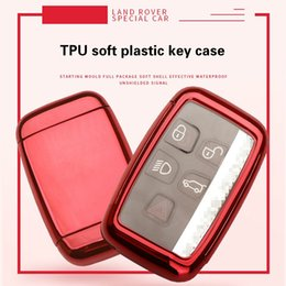 Land Rover araba TPU anahtar kabuk uzaktan kumanda düğmesi anahtar paketi araba motosiklet akıllı uzaktan anahtar kabuk anti-hırsızlık kilit yok çip kesilmemiş bıçak nereden uzaktan kumandalı cips tedarikçiler