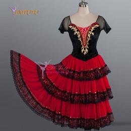 c6348140b vestidos españoles rojos Rebajas Don Quijote Adulto Negro Rojo Tutu  Romántico Ballet Profesional Largo Tutu Traje