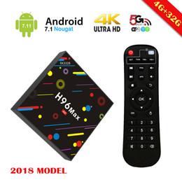 Wholesale Max Loads - H96 MAX Android 7.1 RK3328 Rockchip Fast 4GB Ram 32GB Rom Quad Core KD Loaded Smart TV Box USB 3.0 2.4G 5G AC Dual Band WIFI 4K H.265