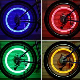 firefly bike Promo Codes - 1Pair LED Bicycle Wheel Tire Valve Light Firefly Effect Cycling Flash Lamp 4Color Bike Spoke Safe Warn Light Bicycle Accessories
