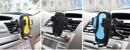 Wholesale Pda Clip - Car Holder Air Vent Bracket Clip For Mobile Phone GPS Multiple Colors Pinch Arm Outlet Rack EVA Sponge ABS