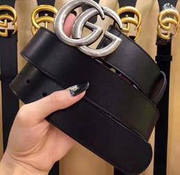 2019 cinturón ancho estilos mujeres Diseñador de la marca cinturón de cuero genuino 3.8 ancho clásico de lujo correa hombres y mujeres 2019 cinturones de alta calidad para hombre estilo casual envío gratis cinturón ancho estilos mujeres baratos