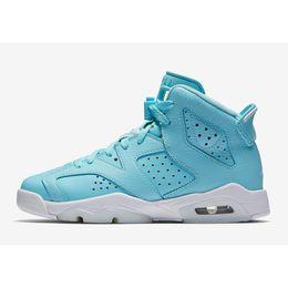 f7cfd8d1eefe Cheap womens Jumpman 6 VI basketball shoes 6s Still Blue UNC Pantone North  Carolina youth kids boys girls aj6 air flight sneakers for sale