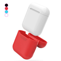 Wholesale Silicone Earphone Covers - For Apple Airpods Silicone Case Soft TPU Ultra Thin Protector Cover Sleeve Pouch for Air pods Earphone Case