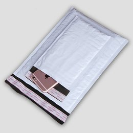 Mailers bianco online-Buste imbottite spesse imbottite per spedizione postale. Buste postali di colore grigio bianco PE Poly Courier Buste Mailer Bubble