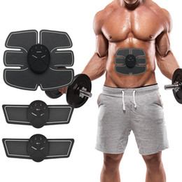 Wholesale Electrical Abs - Electrical Muscle Stimulation EMS Muscle Trainer Muscle Toner Abdominal Toning Belt Wireless ABS Stimulator For Abdomen Arm Leg Training
