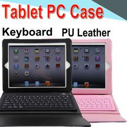 Deckel wasserdichte tablette apfel online-Tastatur Tablet Case PU Leder 7 Zoll drahtlose Bluetooth3.0 Flip Case Stand Cover wasserdicht stoßfest Anti-Staub für Air1 2 3 4 5 EXPT-7