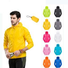 Camisa de vento on-line-Unisex ao ar livre à prova d 'água ciclismo windcoat mtb ciclismo jersey capa de chuva camping caminhadas jaqueta