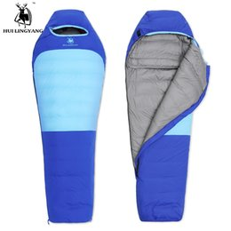 2019 sac de couchage en nylon Ultralight Camping Sleeping Mummy Duvet de Canard Blanc Sac de couchage Adulte Portable Confortablement Bas Sacs sac de couchage en nylon pas cher