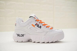 Wholesale cool shoes for women - 2018 OFF Fila DisruptorII Casual shoes For Men Women Running White Cool Luxury Outdoor Sports Sneakers Eur 36-44