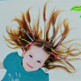 Wholesale rainbow rolls - Rainbow Color Kids Curler Hair Braid DIY Disc Roll Hair Roll Baby Girls' Decor Hair Accesories