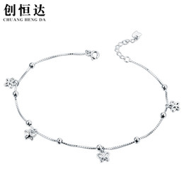 Anklets Lukeni Promotion Female Silver Anklets For Women Jewelry Top Quality Rope Red Bracelets For Girl Birthday Bijou Charm Lucky Gift