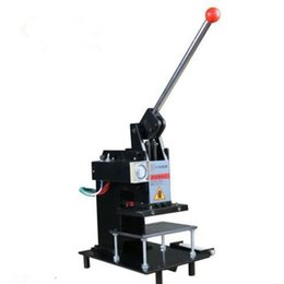 Wholesale hot stamp foil - Manual Hot Foil Stamping Machine printer Leather Logo Embossing Machine 15*10Cm 220V