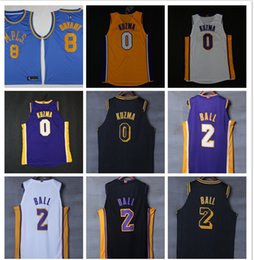Wholesale City Los Angeles - CITY EDITION 2018 New Los Angeles Basketball Jersey 0 Kyle Kuzma 2 lonzo ball 24 8 kobe bryant Jerseys
