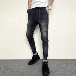 1d5575e11e 2018 Automne Et Hiver Nouveau Élastique Sauvage Slim Casual Jeans  Personnalité Mode Classique Tendance Hommes Populaires Jeunes Locomotive  Urbaine jeans ...