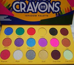 Caja de paleta online-Nueva llegada Maquillaje Paleta de sombras de ojos Caja de lápices de colores Ishadow Palette Cosmetics 18 Colors Shimmer Mate Eyeshadow THE CRAYONS CASE
