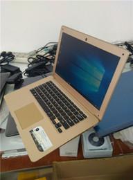 Wholesale Computer Ram Wholesale - 2pcs pc 14.1 inch 4GB RAM 64GB Windows 10 Ultrabook Quad Core Fast run Laptop Netbook Notebook Computer Free 4slot USB gift