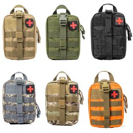 Wholesale Green Medicals - Outdoor EDC Molle Tactical Pouch Bag Emergency First Aid Kit Bag Travel Camping Hiking Climbing Medical Kits Bags