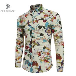 Wholesale Fitted Button Down Shirts - ZEESHANT Men Shirt Luxury Brand Male Long Sleeve Shirts Casual Buttons Up Hit Color Slim Fit Dress Shirts Mens Hawaiian XXXL