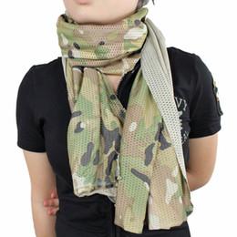 Tactique Camouflage Écharpe Militaire Soldat Jungle Camo Écharpe Maille  Châle En Plein Air Combat Paintball Randonnée Chasse Tir abordable foulards  ... 53b9431bb39