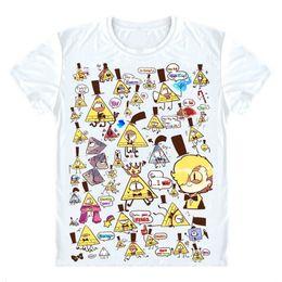 albañil Rebajas Gravity Falls Camisetas Camisetas de manga corta Anime Mason Dipper Pines Mabel Pines Bill Cipher Ojo de Providence Cosplay