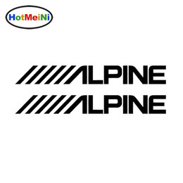 Wholesale Alpine White - Wholesale Vinyl Decal Car Stickers Glass window Bumper Door SUV Auto Accessories Jdm Alpine Audio Speakers Stereo Amplifier Sounds