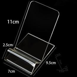 7 см ширина Акриловый сотовый телефон мобильный телефон Дисплей Стенд Держатель для 6 дюймов iphone Samsung HTC по хорошей цене бесплатная доставка от