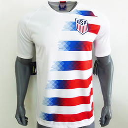 Wholesale Men S Office Shirts - Top AAA Office Quality Version 2018 USA United States home soccer jersey shirt DEMPSEY PULISIC YEDLIN ALTIDORE Soccer Jersey Shirt