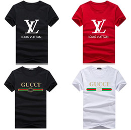1390933ae9ce6 Wholesale Luxury brand T Shirts for Men Women Short Sleeve big logo Shirt  Summer Casual Couple Designer Clothing Fashion Letter Print Tops lacoste  for sale