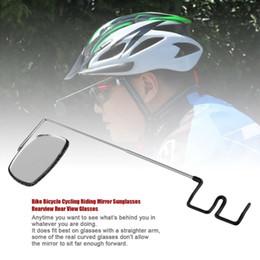 rückspiegelgläser Rabatt Fahrrad Radfahren Reiten Brille Spiegel Sonnenbrille Rearview Rückansicht Gläser heißer Verkauf