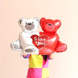 Wholesale custom balloons - custom cheap big aluminum foil balloon Print a boy&girl Foil balloon Heart bear Wedding Valentine's days party supplies
